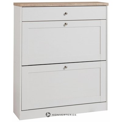 White-brown shoe cabinet (cast) (whole)