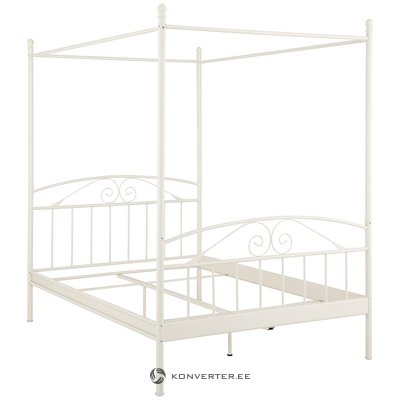 White Metal Canopy Bed (140x200cm)