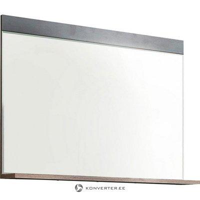 Pelēkbrūns sienas spogulis ar plauktu (indy) (ar skaistuma defektiem, kastē)