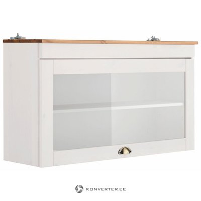 White wall cabinet with glass door (oslo)