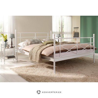 White metal bed (thora) (160x200 cm)