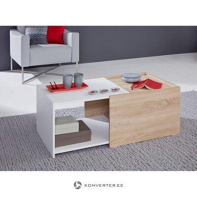 Brūns un balts kafijas galdiņš (kastē, vesels)