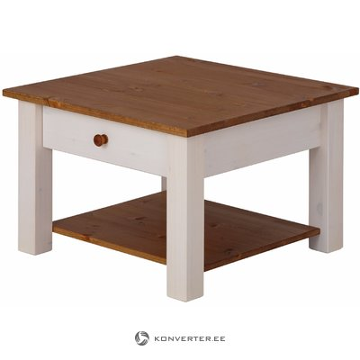 Yvonne Coffee Table small white/honey lacquer