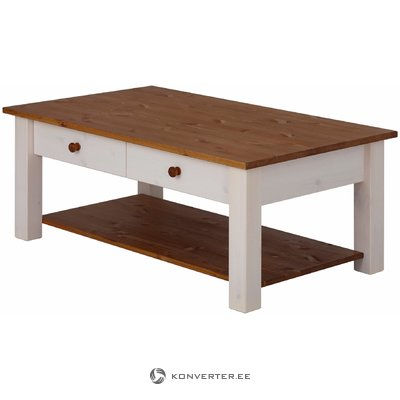 Yvonne Coffee Table large white/honey lacquer