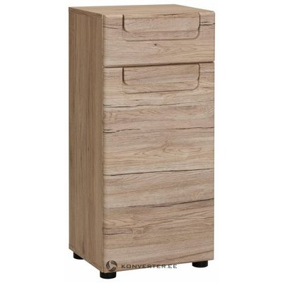Brown bathroom cabinet with 1 door and 1 drawer (malea) (whole, in box)