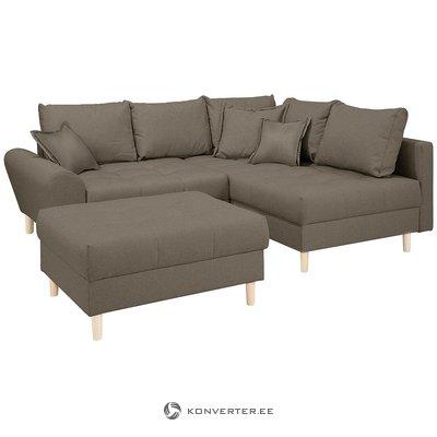 Corner sofa bed (rice)