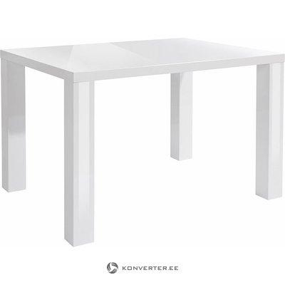 Valkoinen kiiltävä 4 jalka ruokapöytä (vikoja)