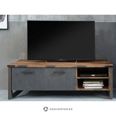 Gray-brown low tv stand (prime) (in box, whole)