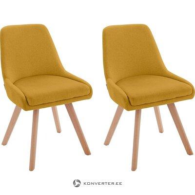 Dzeltens, mīksts dizaina krēsls (Dilla) (viss, zāles paraugs)