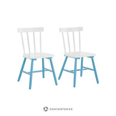 Trento Stick chair-White/Blue