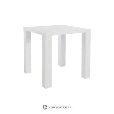 Snow Table 80x80cm - White/High Gloss