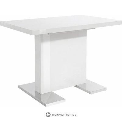 Spring Table 110x70cm-White/High Gloss