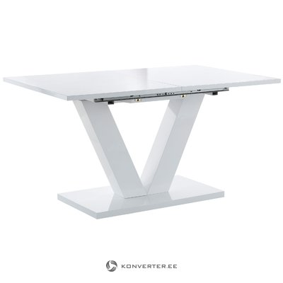 Allen Table 140x90cm - White/High Gloss