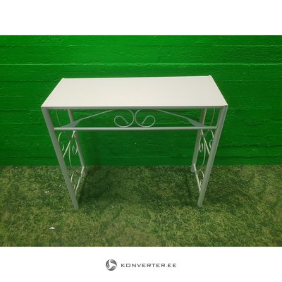 Metal High White Table