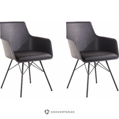 Joey Chair 2 pack - Black PU