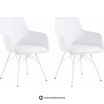 Joey Chair 2 pack - White PU
