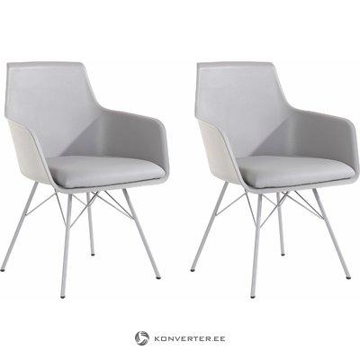 Joey Chair 2 pack - Grey PU