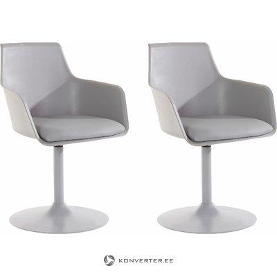Mario Chair 2 pack - Grey PU