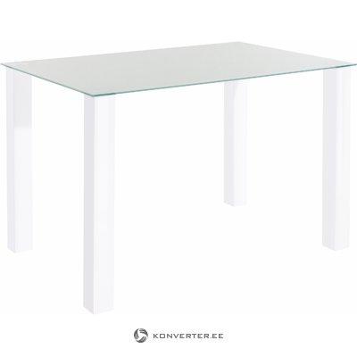 Dante Table white high gloss