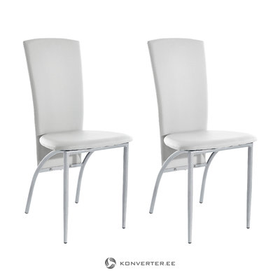 Nelsonda Dining Chair white PU / metal / set of 2