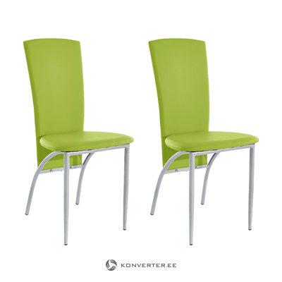 Nelsonda Dining Chair green PU / metal / set of 2