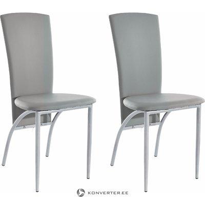Nelsonda Dining Chair grey PU / metal / set of 2