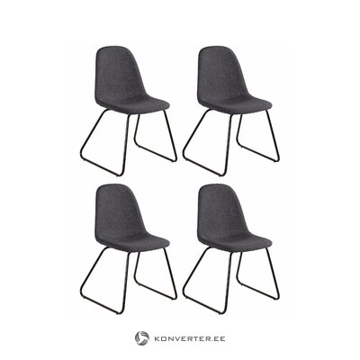 Colombo chair 4pack - Anthracite