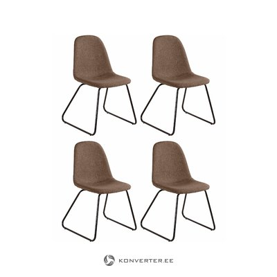 Colombo chair 4pack - Cappucino