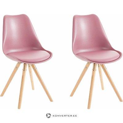 Brenda Chair Rose/wood base