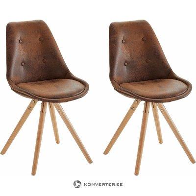 Brenda Chair buffalo/wood base