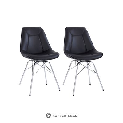 Shirley Chair black/chrome bas