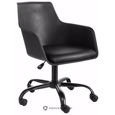 Leslie office chair black plastic / pu / metal