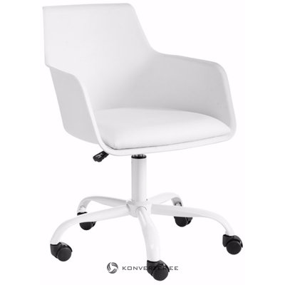 Leslie office chair white plastic / pu / metal