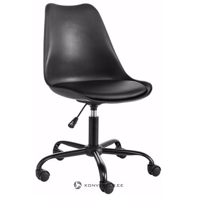 Dan office chair black plastic / pu / metal