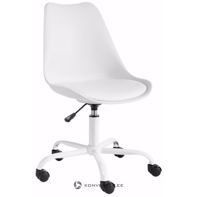 Dan office chair white plastic / pu / metal