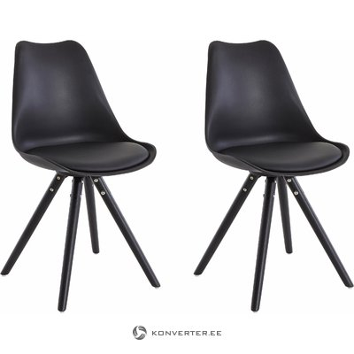 Brenda Chair Black/black base