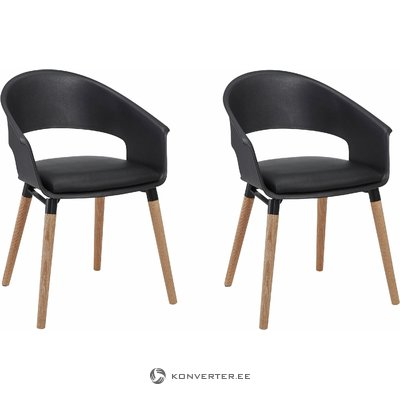 Alto Chair Black/oak base