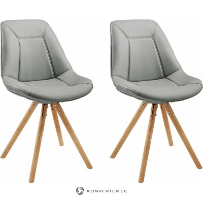 Mel Chair Grey/oak base
