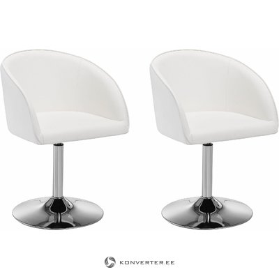 Willy Armchair White/chrome