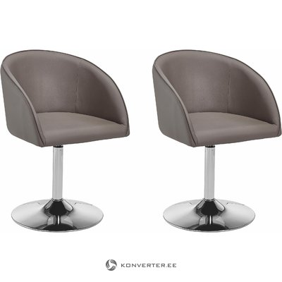 Willy Armchair Cappuchino/chrome