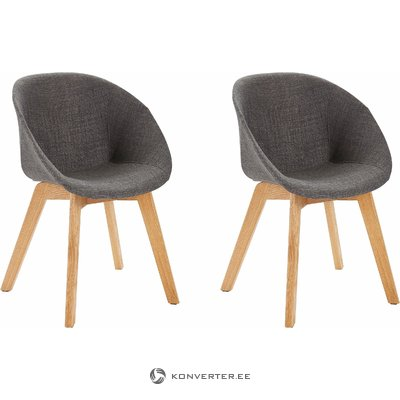 Baxter Chair 2 pack- Anthracite it grey
