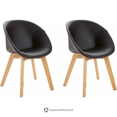 Baxter Chair PU 2 pack- black