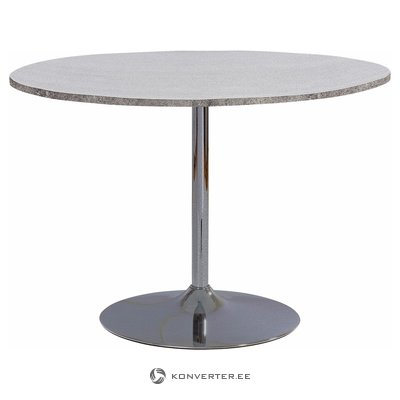 Terri Table round concrete finish / chrome