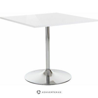 Trent Table White High Gloss/Chrome