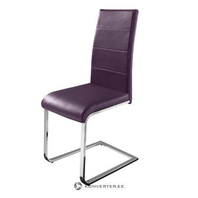 Cara Dining Chair purple PU / chrome / set of 2
