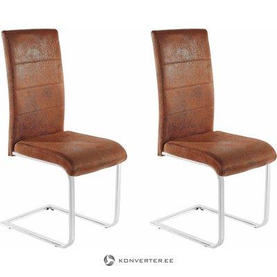 Kosuma chair 2 pack - microfiber brown