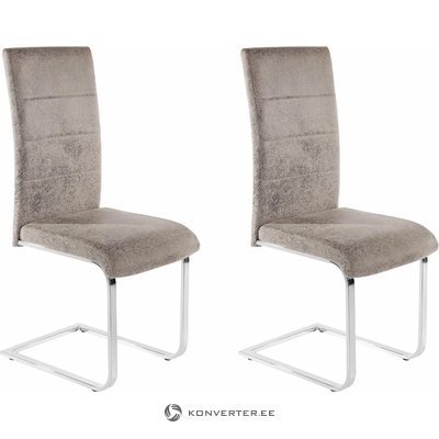 Kosuma chair 2 pack - microfiber light grey
