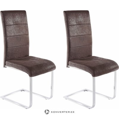 Kosuma chair 2 pack - microfiber Anthracite it grey