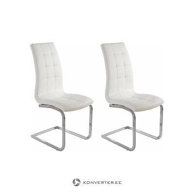 Bruno chair 2-pack white PU