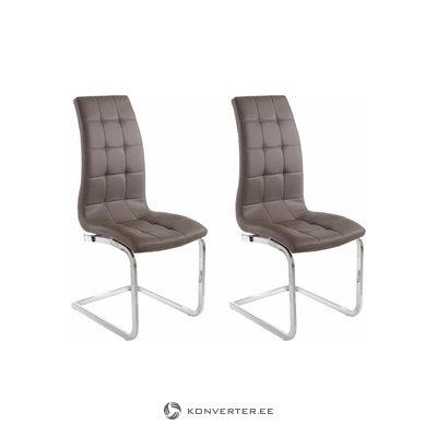Bruno chair 2-pack cappuccino PU